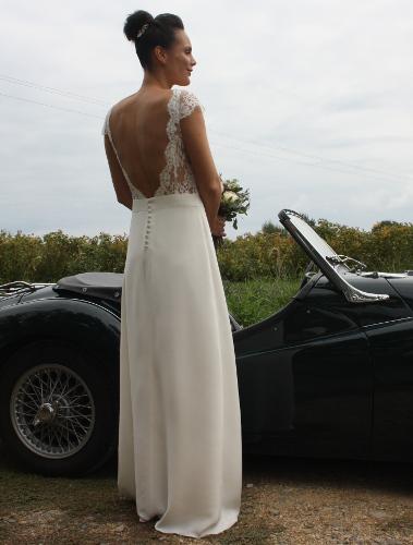 Robe dos dentelle mariage